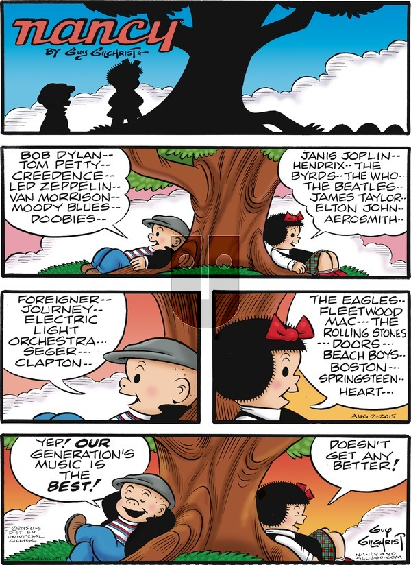 Nancy on Sunday August 2, 2015 Comic Strip