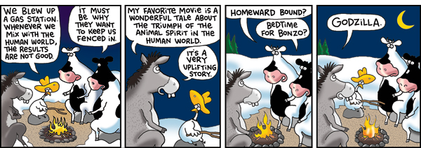 2 Cows and a Chicken Comic Strip for January 03, 2011