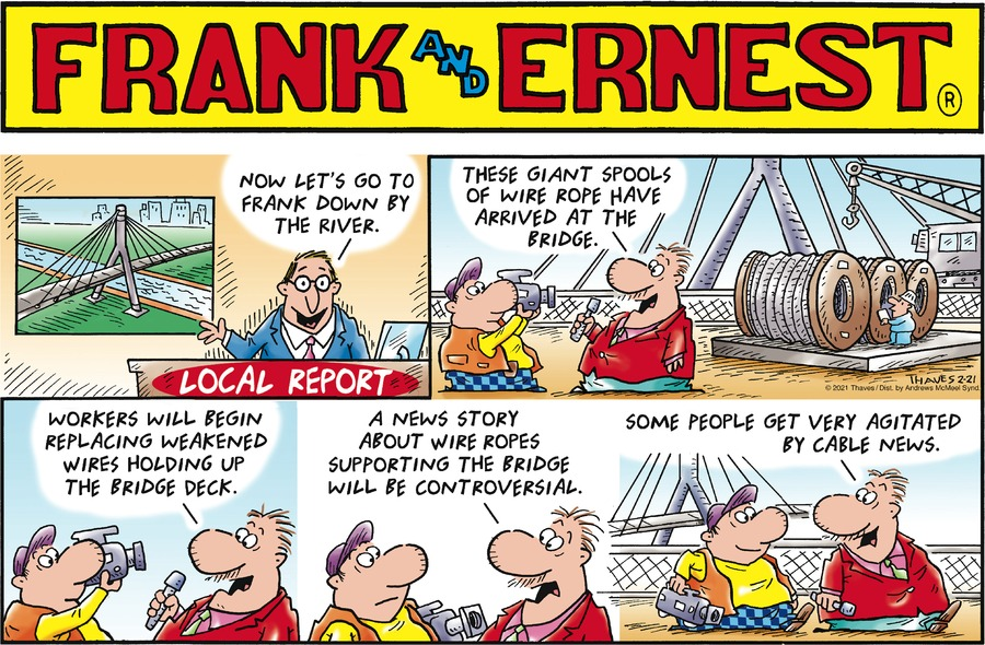 Frank and Ernest Comic Strip for February 21, 2021