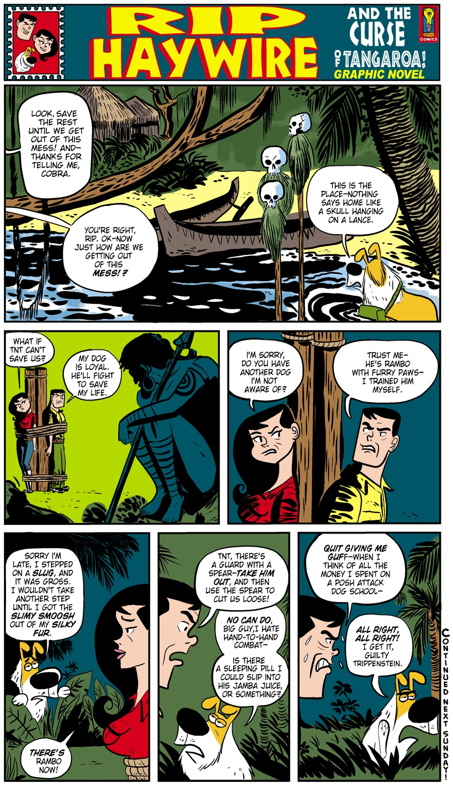 Rip Haywire Comic Strip for February 09, 2014