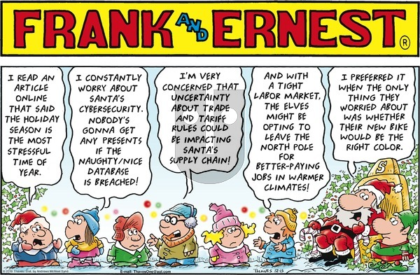 Frank and Ernest on Sunday December 15, 2019 Comic Strip