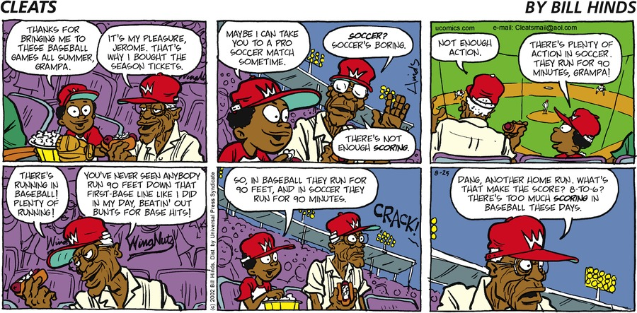 Cleats Comic Strip for August 25, 2002