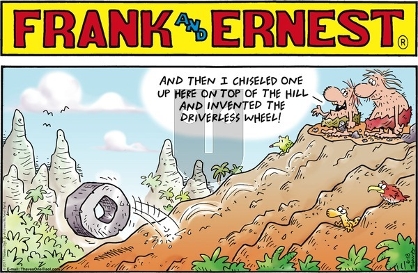 Frank and Ernest on Sunday June 18, 2017 Comic Strip