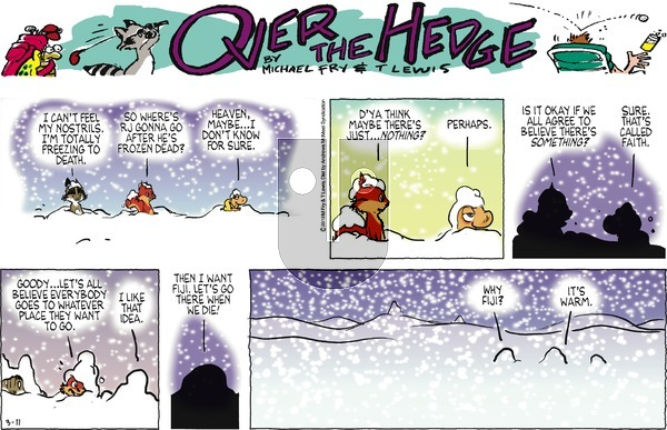 Over the Hedge on Sunday March 11, 2018 Comic Strip