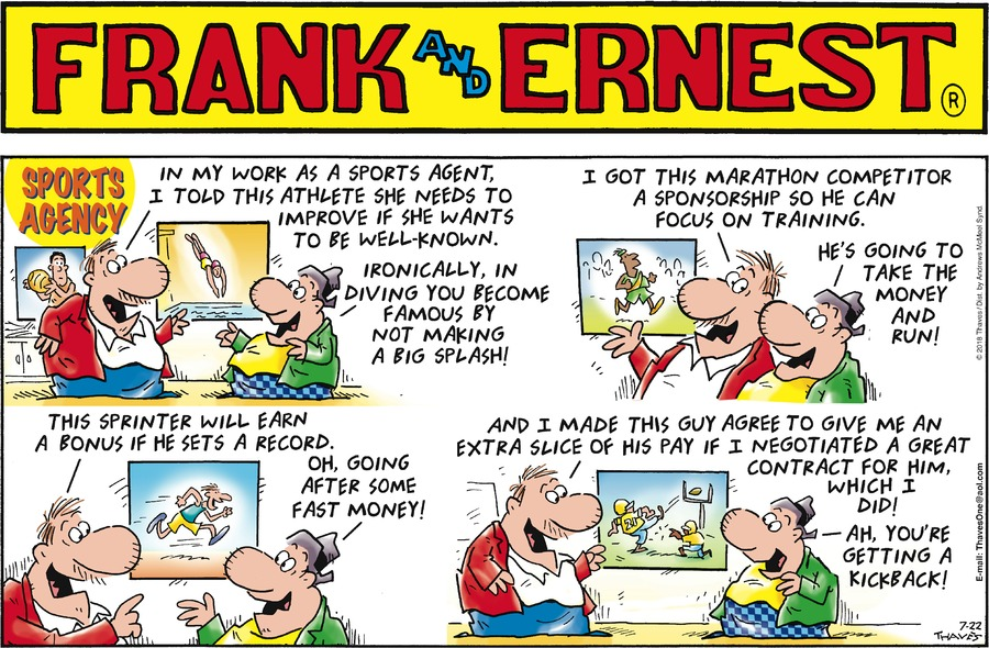 Frank and Ernest Comic Strip for July 22, 2018