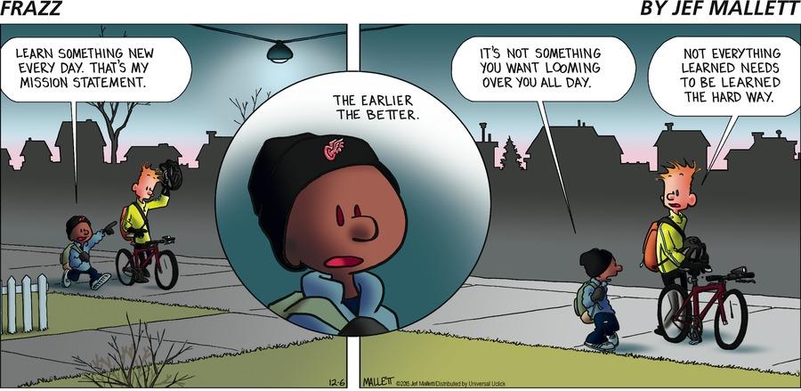 Frazz Comic Strip for December 06, 2015