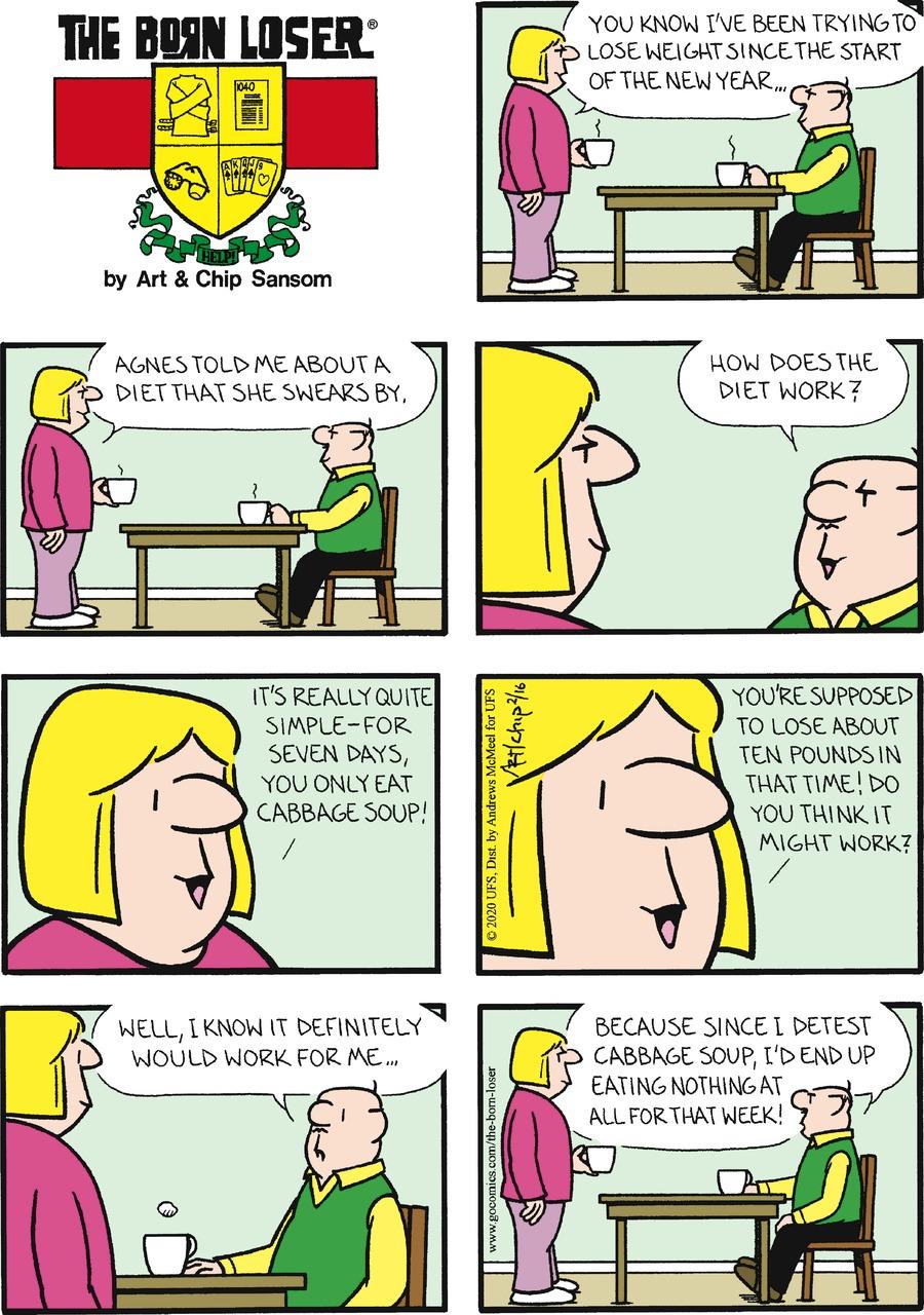 The Born Loser Comic Strip for February 16, 2020