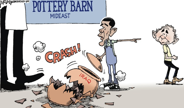 Pottery Barn Mideast  Crash!  Iraq