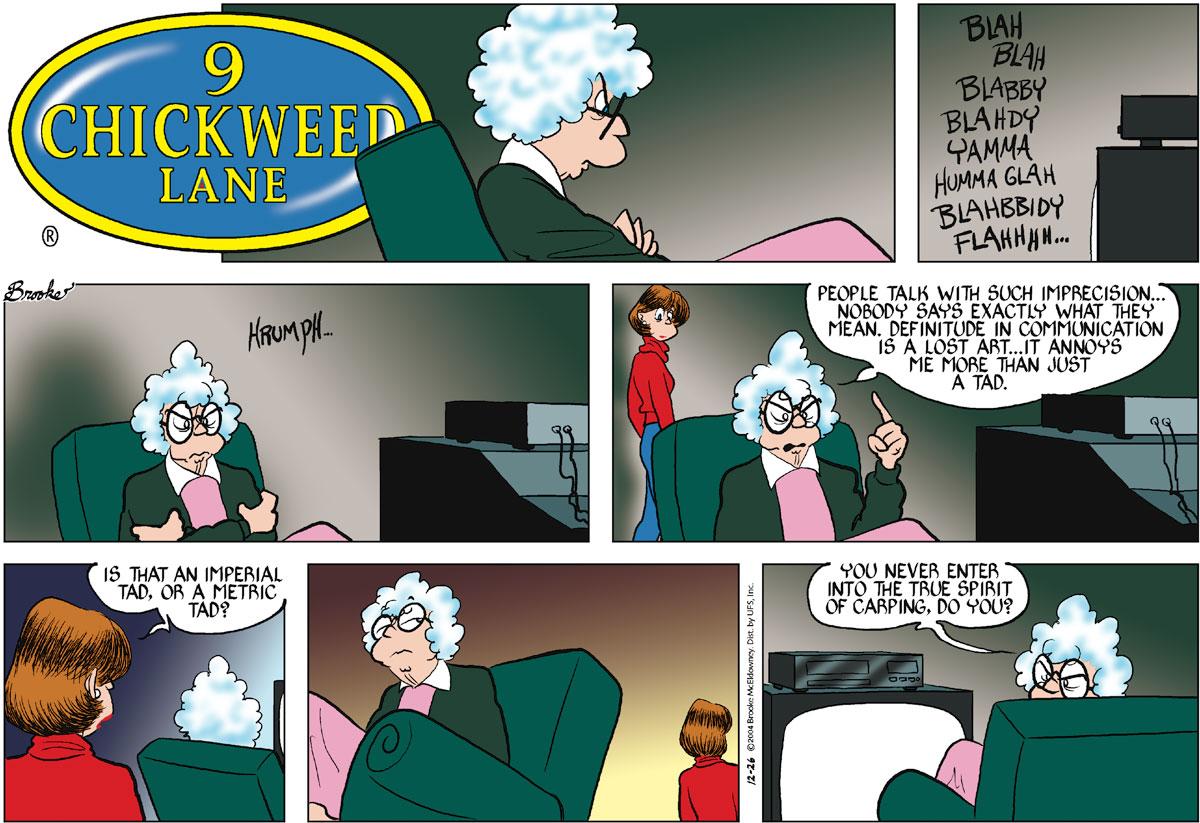 9 Chickweed Lane for Dec 26, 2004 Comic Strip