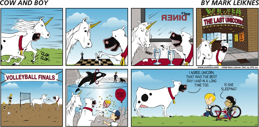 Cow and Boy Classics Comic Strip for March 05, 2006