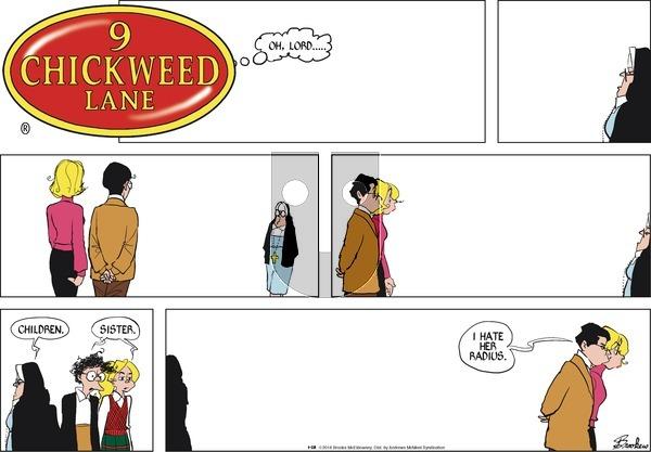 9 Chickweed Lane on Sunday January 28, 2018 Comic Strip