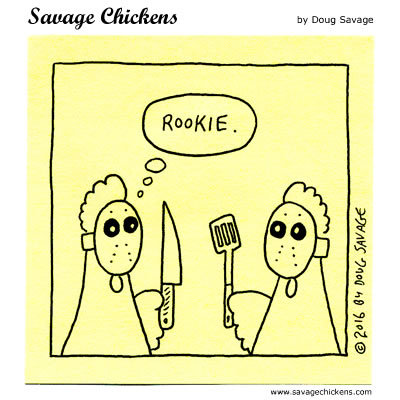 Savage Chickens Comic Strip for March 13, 2020