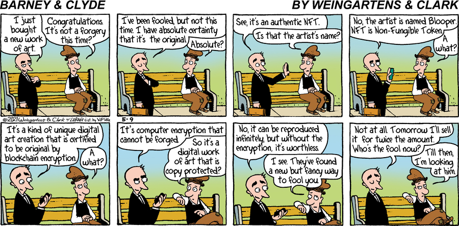 Barney & Clyde Comic Strip for May 09, 2021