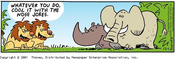Frank and Ernest Comic Strip for December 01, 2001