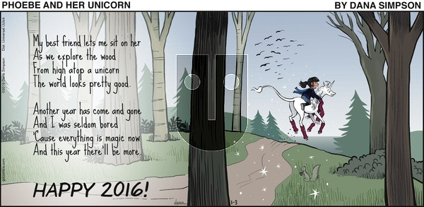 Phoebe and Her Unicorn on Sunday January 3, 2016 Comic Strip