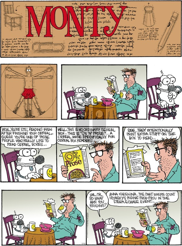 Monty on Sunday July 12, 2020 Comic Strip