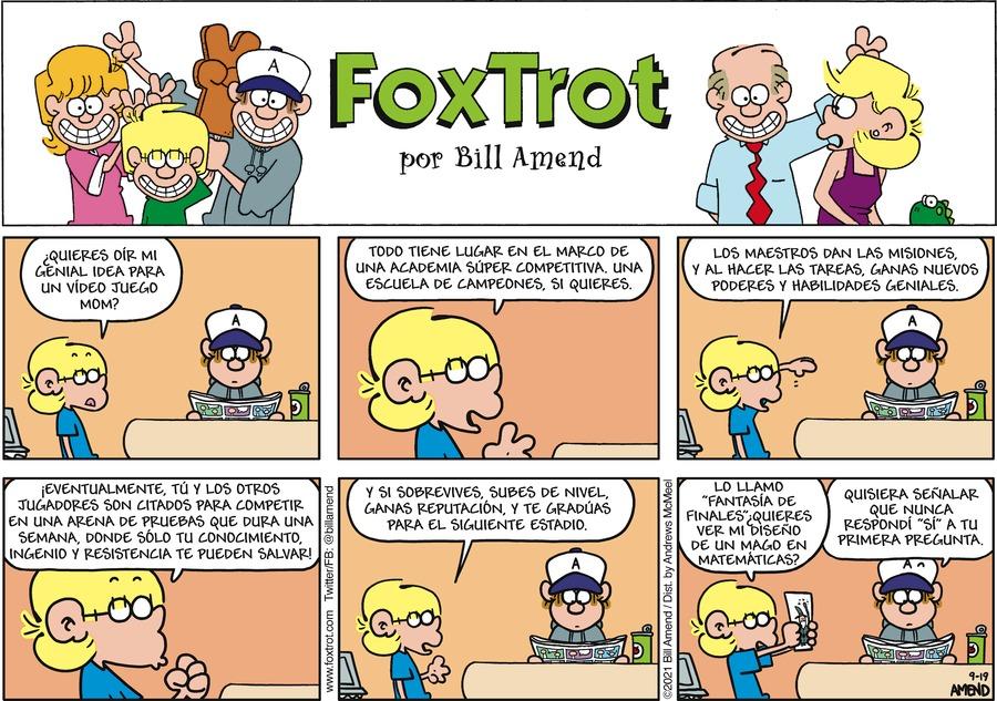 FoxTrot en Español Comic Strip for September 19, 2021