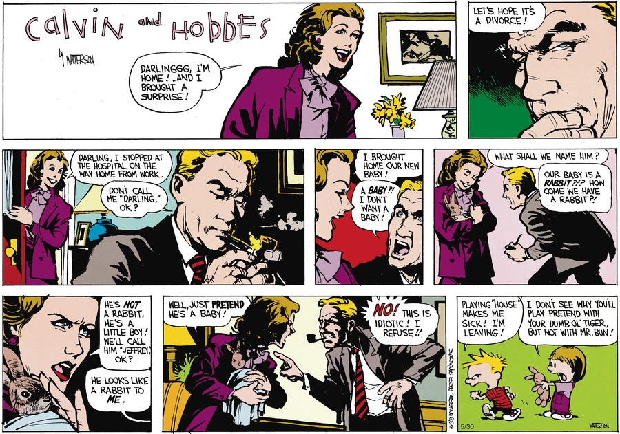 Calvin and Hobbes Comic Strip for July 09, 1989