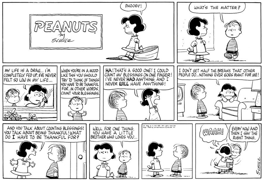 Peanuts Comic Strip for June 30, 1963