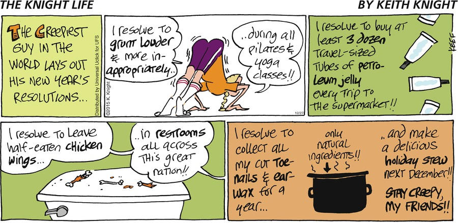 The Knight Life Comic Strip for December 27, 2015