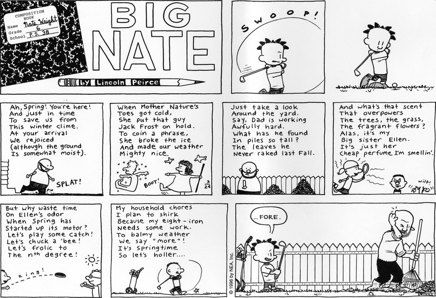 Big Nate Comic Strip for March 24, 1996