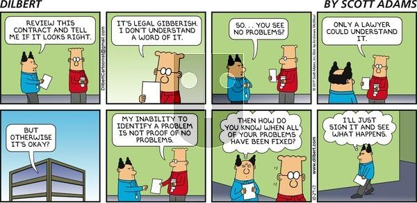 Dilbert on Sunday October 29, 2017 Comic Strip