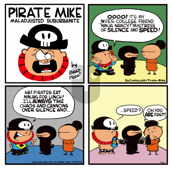 Pirate Mike on Wednesday April 28, 2021 Comic Strip