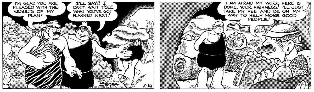 Alley Oop for Feb 19, 2005 Comic Strip