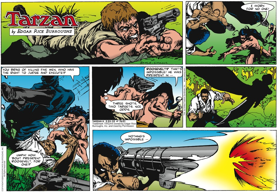 Tarzan Comic Strip for February 24, 2002