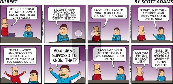 Dilbert on Sunday March 12, 2017 Comic Strip