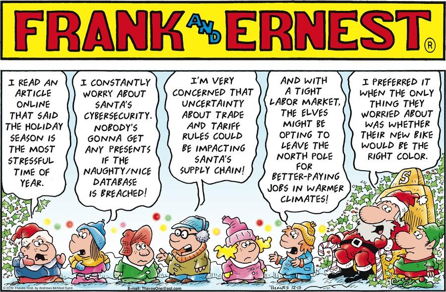 Frank and Ernest Comic Strip for December 15, 2019