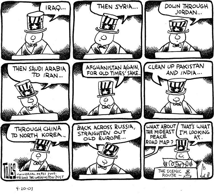 Tom Toles for Apr 20, 2003 Comic Strip