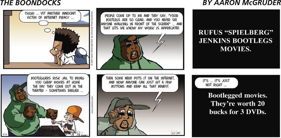 The Boondocks Comic Strip for September 19, 2004