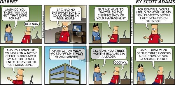 Dilbert on Sunday April 26, 2015 Comic Strip