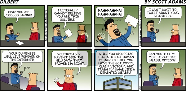 Dilbert on Sunday September 9, 2018 Comic Strip