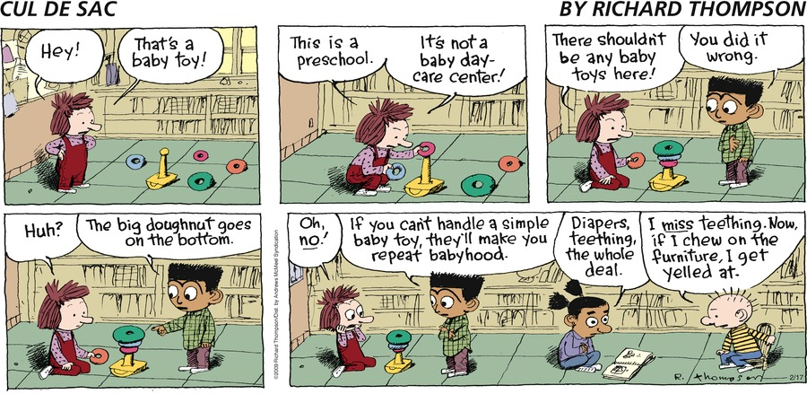 Cul de Sac Comic Strip for February 17, 2019