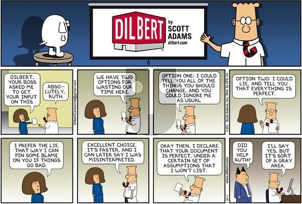 Dilbert on Sunday January 30, 2011 Comic Strip
