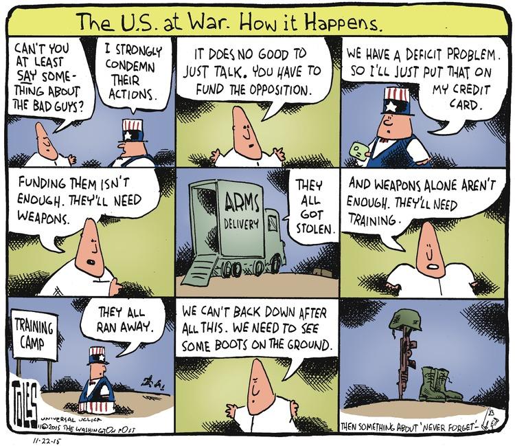 Tom Toles Comic Strip for November 22, 2015