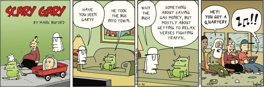 Scary Gary Comic Strip for January 31, 2016
