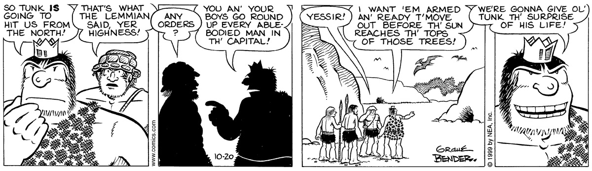Alley Oop for Oct 20, 1999 Comic Strip