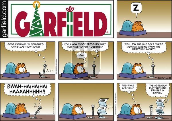 Garfield on Sunday December 20, 2015 Comic Strip