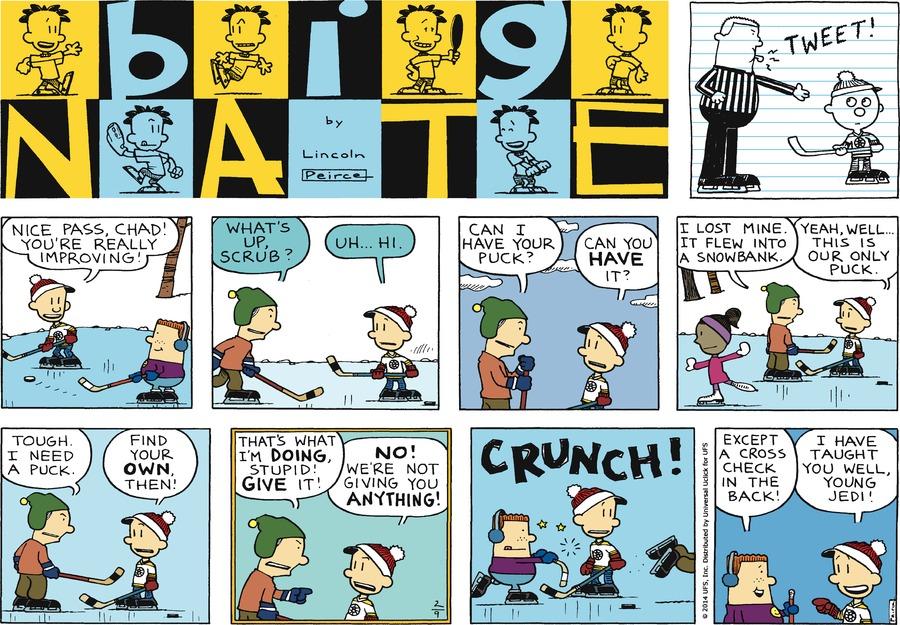 Big Nate for Feb 9, 2014 Comic Strip