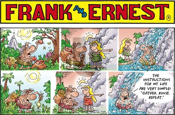 Frank and Ernest on Sunday April 29, 2018 Comic Strip