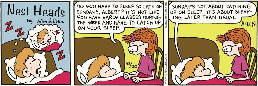 Nest Heads for Oct 20, 2013 Comic Strip