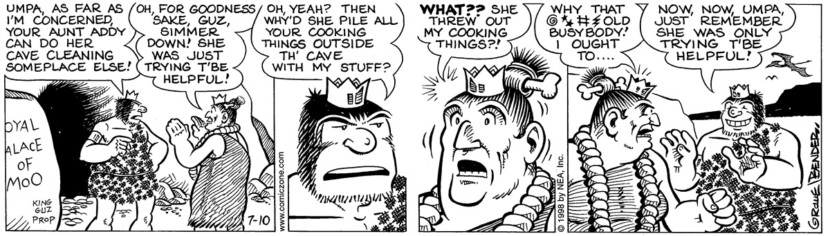 Alley Oop for Jul 10, 1998 Comic Strip