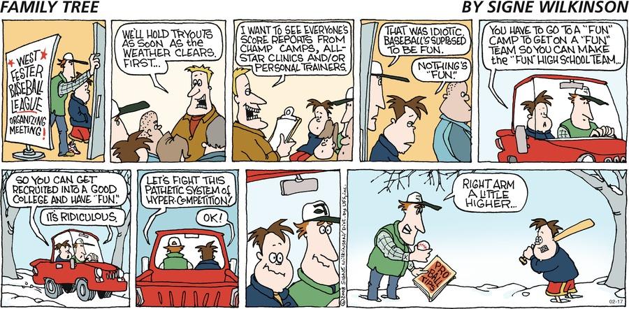 Family Tree Comic Strip for February 17, 2008
