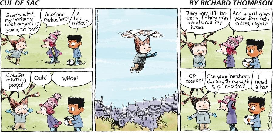 Cul de Sac for Nov 8, 2009 Comic Strip
