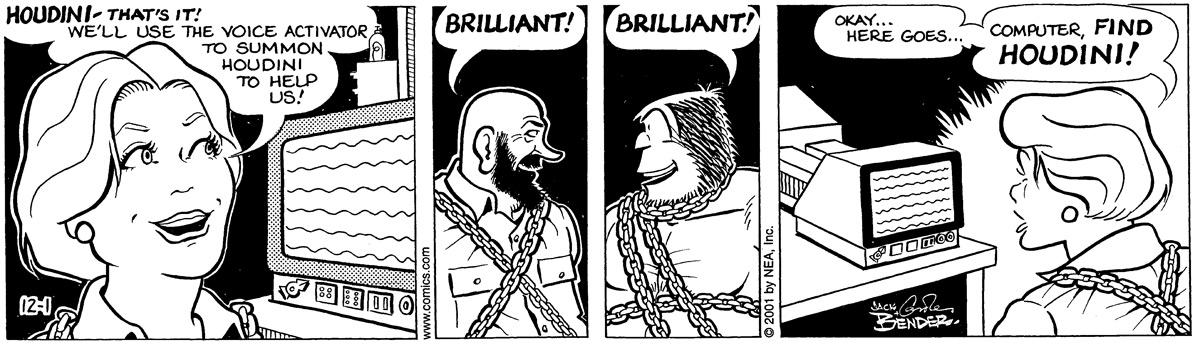 Alley Oop for Dec 1, 2001 Comic Strip
