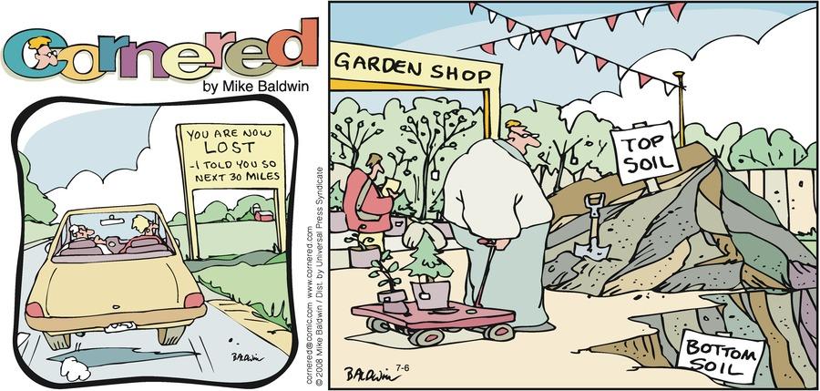 Cornered Comic Strip for July 06, 2008