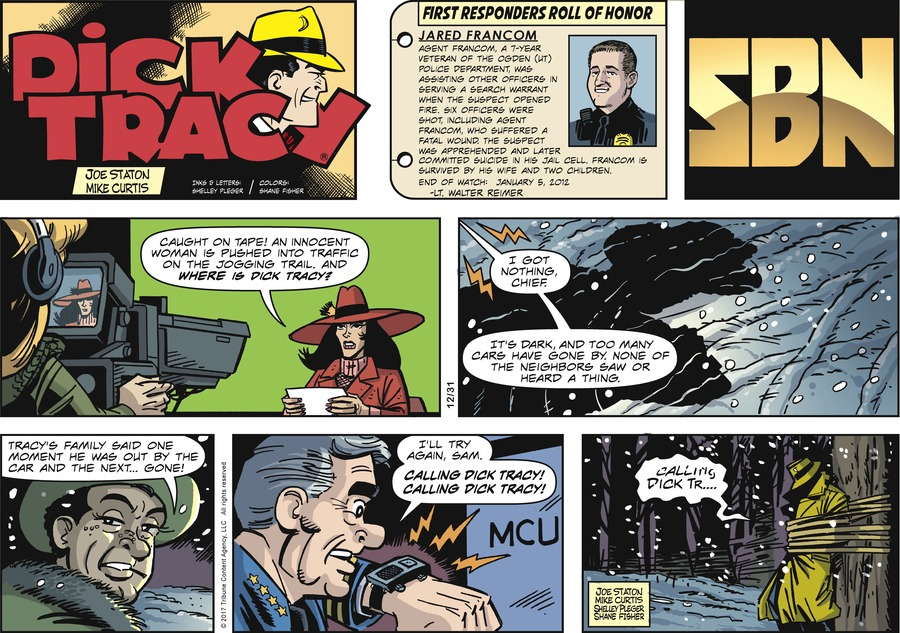 Dick Tracy Comic Strip for December 31, 2017